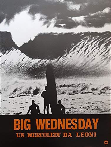 Vintage Big Wednesday Movie Poster Metal Sign Beach Decor Wall Hanging Vintage Aluminum Plaques Wall Poster for Garage Man Cave Beer Cafee Bar Pub Club Shop Outdoor Home Decor 8' x 12'