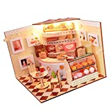 perfk Miniatur Puppenhaus mit Möbeln Maßstab 1:24 Weihnachten Geschenk - Bäckerei