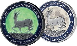 2019 GA Modern Commemorative PowerCoin MOON LANDING 50th Anniversary Krugerrand 1 Oz Silver Coin 1000 Francs Gabon 2019 BU Brilliant Uncirculated