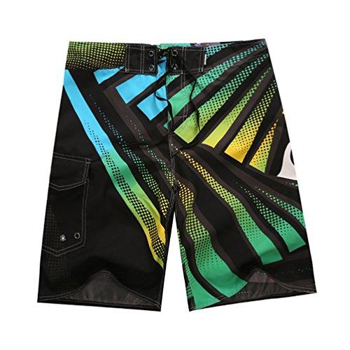 YOUJIA Traje De Baño Casual Beach Shorts Pantalon Corto para Hombre Verde M