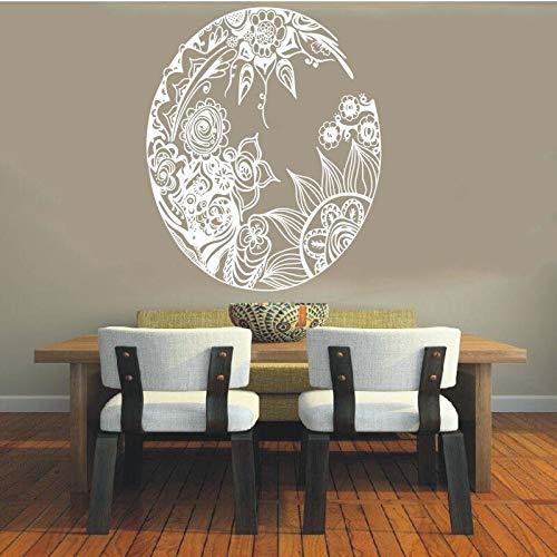 Etiqueta de vinilo Mandala Círculo sánscrito Símbolo espiritual Hinduismo DIY 42x51cm