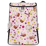 YUDILINSA Viaje Mochila,Patrón Ice Lolly Cookies Donuts Crema,Universitaria Mochila,Laptop Backpack con Compartimento para zapatos