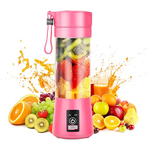 Portable Blender,Personal Blender,Smoothies Mini Jucier Cup USB Rechargeable and Personal Size Blender Shakes,380ml,Fruit Juice,Mixer