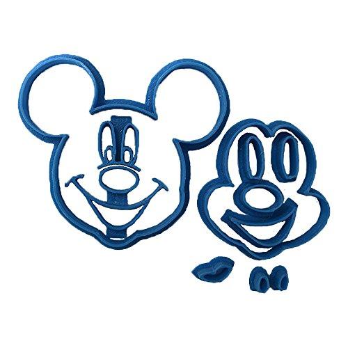 Cuticuter Mickey Cara Cortador de Fondant, Azul, 8x7x1.5 cm