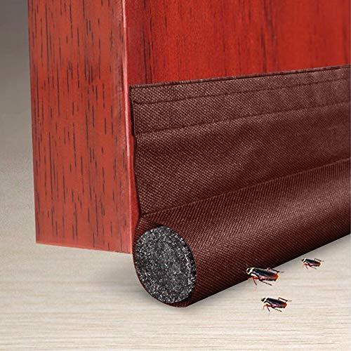Dricar Door Draft Stopper, Under Door Sweep Weather Stripping Door Seal Strip Soundproof Energy Saving Door Draft Blocker Washable Door Bottom Draught Excluder (Brown)