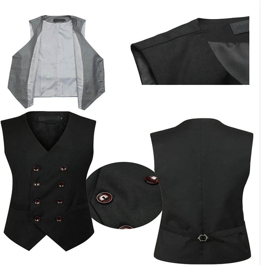 YFQHDD Dress Vests for Slim Fit Mens Suit Vest Male Waistcoat Gilet Homme Casual Sleeveless Formal Business Jacket (Color : B, Size : XL code)