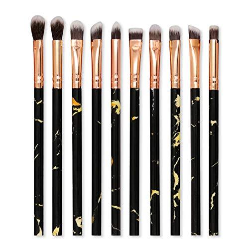 hsy Kit d'outils de pinceaux de Maquillage Professionnel pour Fard à paupières Eyeliner sourcil incliné,Poignées en Bois Clair Pinceau Fond de Teint pour Poudre Collection de pinceaux de Base