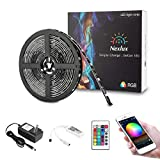 Nexlux LED Strip Lights, WiFi Wireless Smart Phone Controlled 16.4ft Non-Waterproof Strip Light Kit Black Color Changing Lights,Working with Android and iOS System,IFTTT
