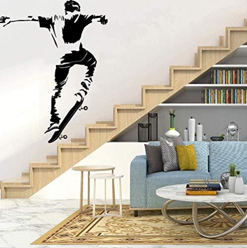 Muurstickers muurschilderingen Cartoon Skateboard Animal Lover Home Accessoires voor Babykamers Nordic Style Home 43X56cm