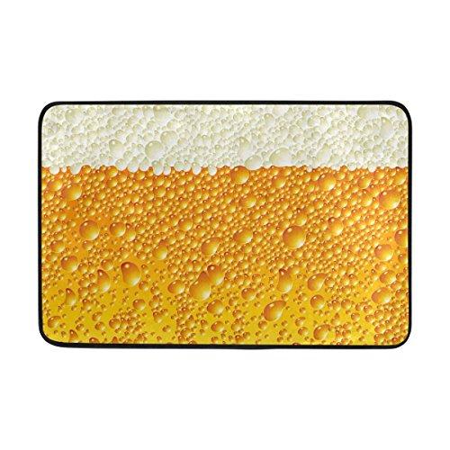 Bennigiry antidérapant Paillasson Home Decor, Classic Bière Durable Intérieur ou extérieur Paillasson Tapis Entrée 59,9 x 39,9 cm