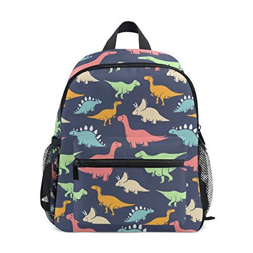 ISAOA Zaino per bambini asilo nido scuola materna per ragazzi/ragazze, Lovely Bookbag Zaini per età 2-8 anni bambino (dinosauro colorato)