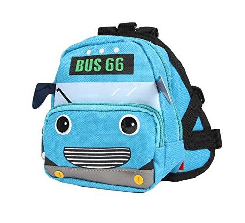 Dessin animé Chien pour animal domestique Chien extérieur Sac à dos de voyage épaules Sac à dos Bleu -- Bus