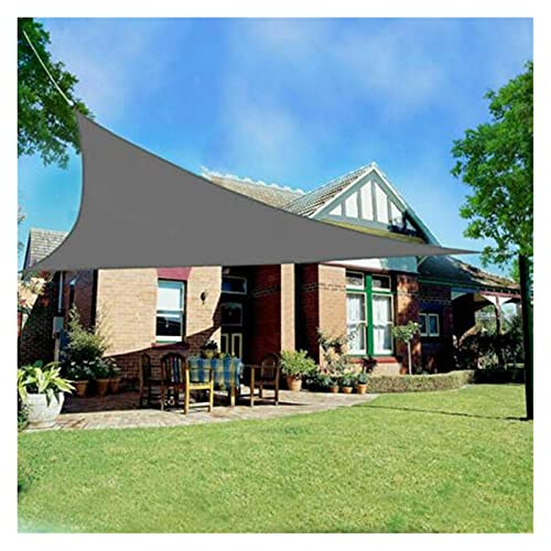 ZXD Vela De Sombra De Sol, 160GSM PES Parasol Impermeable Triángulo Toldo con Protección Solar para Jardín, Patio, Balcón (Color : Gray, Size : 2.4x2.4x2.4m)