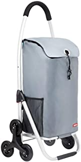 LQBDJPYS Lightweight Shopping Trolley Tri-Wheel, Stair Climbing Cart with Large Capacity Folding Design Folding Luggage Ba...