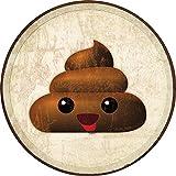 Desperate Enterprises Emoji - Poop Tin Sign, 11.75' Diameter