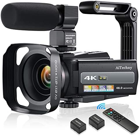 4K 60FPS Video Camera Camcorder Ultra HD 48MP Digital Camera WiFi YouTube Vlogging Camera with product image
