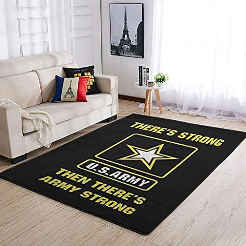 YOUYO Spark Alfombra US Army Antideslizante - Práctico Footclothfor Dormitorio Blanco 91x152cm
