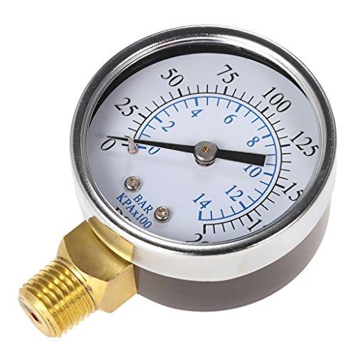 Pressione Aria Compressore/Manometro Idraulico 1/4 ''NPT 0-200psi 0-14bar Manometro