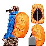 Joy Walker Backpack Rain Cover Waterproof Breathable Suitable for (15-30L, 30-40L, 40-55L, 55-70L, 70-90L) Backpack Hiking/Camping/Traveling (Orange, Middle (for 30-40L Backpack))
