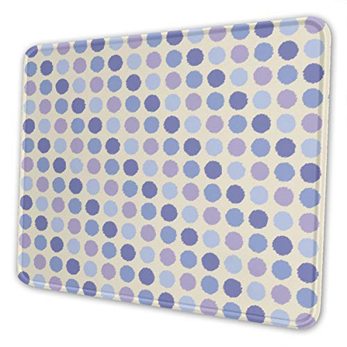 Macarons Huge Dots Geometric Polka Girl Spots Mouse Pad Non-Slip Rubber Base for Laptop, Computer & Pc Keyboard Mat Waterproof Home