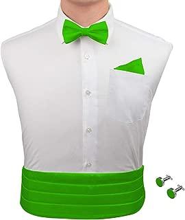 lime green bow tie and cummerbund