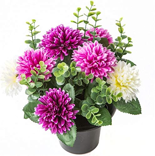 ARTIFICIAL PURPLE \u0026 CREAM MUM FLOWER ARRANGEMENT GRAVE POT - VASE INSERT MEMORIAL  sc 1 st  Amazon UK & Flower Pots for Graves: Amazon.co.uk