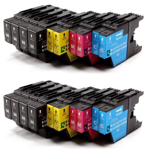 Delcomcomputers & Wantmoreink–Cartuchos compatibles para impresoras Brother LC1220,LC1240,para Brother MFC-J280W, MFC-J425W, MFC-J430W, MFC-J435W, MFC-J625DW, MFC-J5910DW, MFC-J6510DW, MFC-J6710DW, MFC-J6910DW, MFC-J825DW, MFC-J835DW, DCP-J525W DCP-J725DW DCP-J925DW, color 20 inchiostri