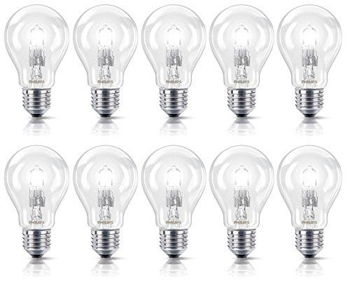 Philips Halogenlampe EcoClassic 28 W ersetzt 35 W E27, 10er-Pack, warmweiß 8727900661965