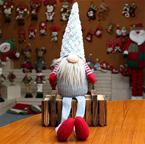 EKKONG Wichtel Figuren für Weihnachten Deko, Süße Skandinavischer Zwerg, Handgemachte Tomte GNOME Santa Dolls für Home Schaufenster, Weihnachten Geschenke für Kinder Familie Freunde (Grau)