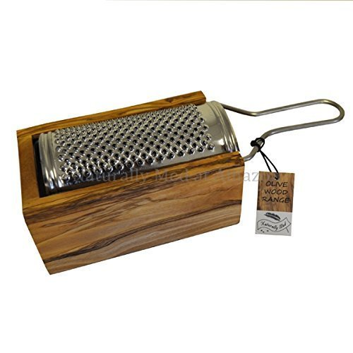 Naturally Med - Olive Wood Parmesan Cheese / Nutmeg Grater - Small by Naturally Med