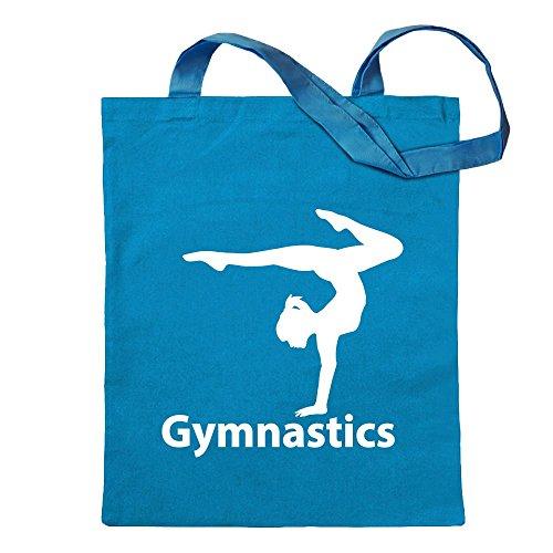 Kiwistar Gymnastics Tragetasche Baumwolltasche Stoffbeutel Umhängetasche Langer Henkel