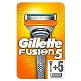 Gillette Fusion5 Regolabarba Uomo, Rasoio a Mano Libera, 6 Lamette da Barba da 5 Lame, Rasatura Confortevole, Manico Ergonomico con Rifinitore di Precisione, Fino a 1 Mese di Rasatura con 1 Lametta