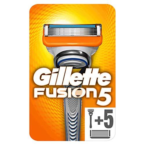 Gillette Fusion5 Rasoio da Uomo, 6 Testine, Pacchetto per Casella Postale, con 5 Lame Antiattrito per Rasatura Impercettibile