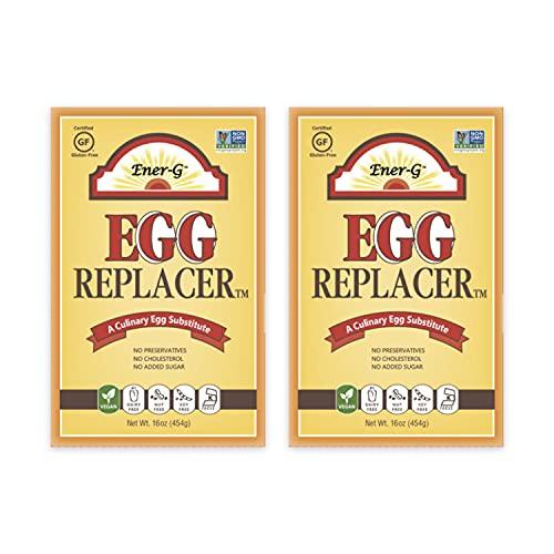 Vegan Egg Replacer by Ener-G | Gluten Free, Vegan, Nut Free, Non-GMO, Kosher | 16 oz Package | 2-Pack