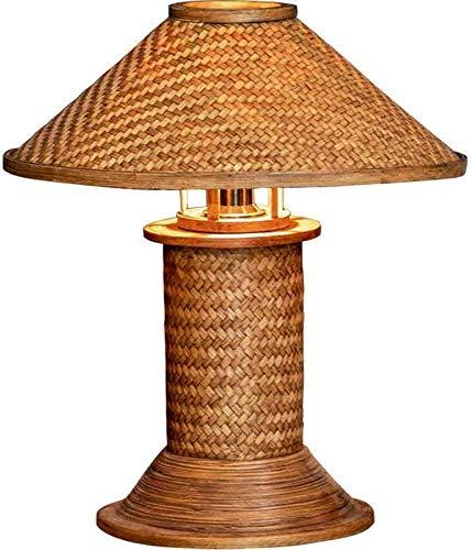 Lámpara de mesa - Luz de artesanía para el hogar creativo, lámpara de cama retro sudeste asiático, lámpara de lectura de cama de dormitorio,A