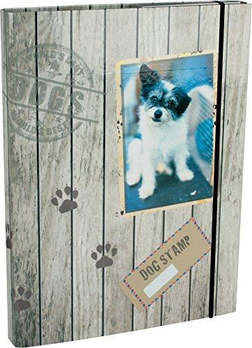 Heftbox / DIN A5 / aus Pappe / mit Hundemotiv