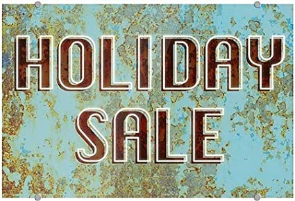 Holiday Sale 27x18 CGSignLab Ghost Aged Blue Premium Acrylic Sign