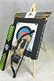 ASD 20Lbs Youth Black Compound Archery Bow Set W/ 8 Arrows, Target Boss