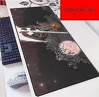 ゲーミングマウスマットラージマウスマット大型ラバーXL耐久性のあるソフトロック・エッジ (Color : A)