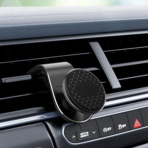 Goodtimera - Supporto magnetico per telefono per auto, universale, per smartphone XR XS Max X 8 7 6 Plus e la maggior parte degli smartphone Di seconda generazione, nero.