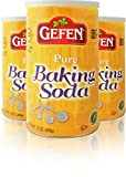 Gefen Pure Baking Soda, 12oz (3 Pack) In Resealable Container, Total of 2.25lb, 100% Sodium Bicarbonate