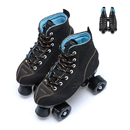 BDTOT Rollschuhe, Herren und Damen Rollschuhe Klassisch Vierrad Roller Skates Double Row Roller Skates für Jungen und Mädchen