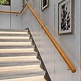 LXHJZ Pasamanos Escalera Madera para Interiores, pasamanos barandilla Escalera Tipo Loft, Varilla Soporte para el Pasillo del hogar para Ancianos y niños, Soportes Pared