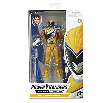 Power Rangers Lightning Collection 6  Dino Charge Gold Ranger Collectible Action Figure Toy with Accessories