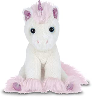 Bearington Lil' Dreamer White and Pink Plush Stuffed Animal Unicorn, 8 Inches