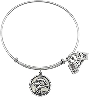 Wind and Fire Dolphins Charm with Bangle WF241