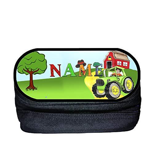 Traktor Stifteetui Stiftebox mit Name und Schriftartwahl