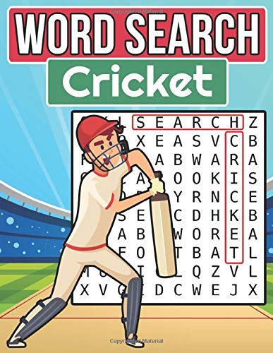 Cricket Word Search: Large Print Word Search Puzzle Book About Cricket For Kids and Seniors | 8.5 x 11 Inches, 62 Pages, 48 Puzzles For Cricket Fans | Gift For Cricket Lovers