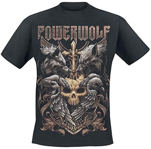 Powerwolf Wolves & Ravens Männer T-Shirt schwarz 3XL 100% Baumwolle Band-Merch, Bands