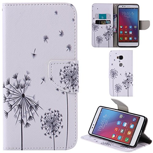 Ooboom® Huawei Honor 5X Hülle Flip PU Leder Schutzhülle Handy Tasche Case Cover Wallet Standfunktion mit Kartenfächer für Huawei Honor 5X - Löwenzahn